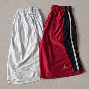 Vtg Jordan Silky Shiny Basketball Shorts Lot of 2